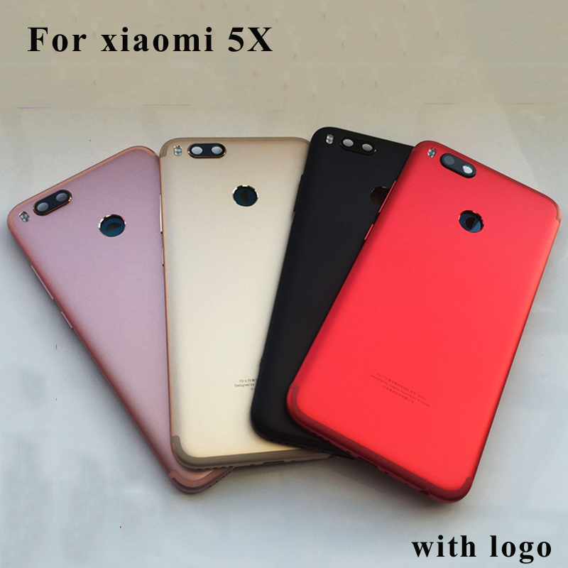 For XiaoMi Mi 5x A1 Battery cover Back Rear Battery Housing Door Back Cover Case+Side Buttons Replacement for xiaomi mi5X Mobile