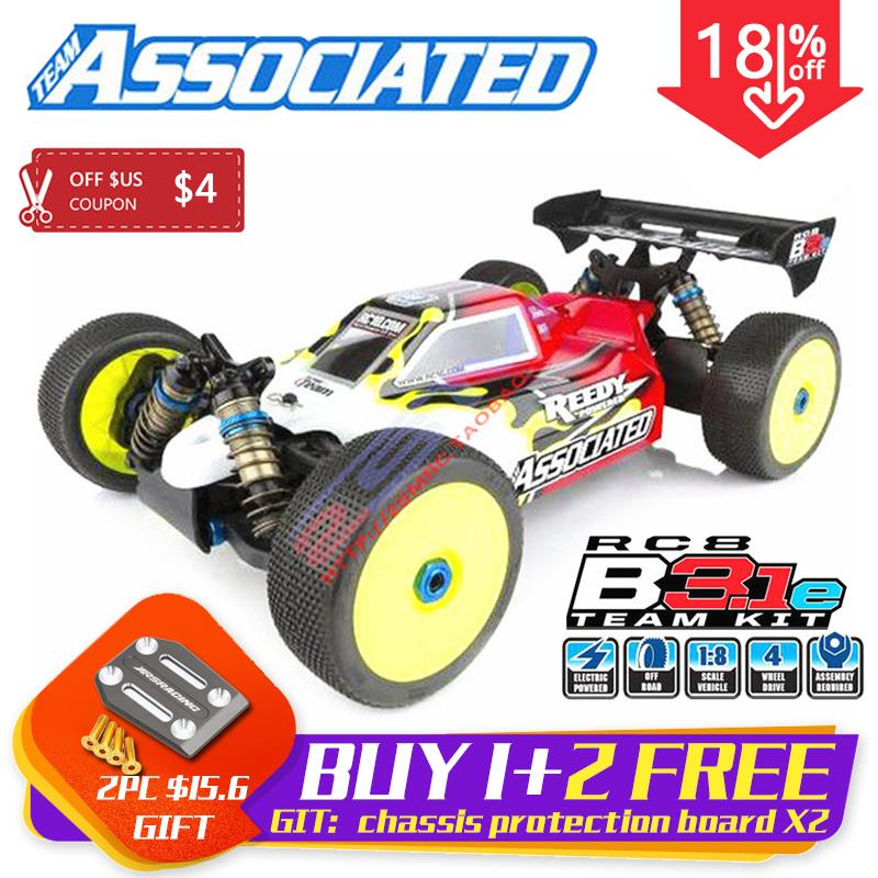TeamAssociated RC8B3.1e Team Unassembled Kit Competition Level Electric 1/8 4WD Remote Control Buggy Off-Road Frame