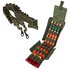 Tactical Shell Ammo Holder Molle Pouch Shotgun Sling with 25 Round Shotgun Reload Magazine Pouch