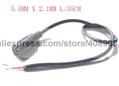 50pcs 35cm 5.5mm x 2.1mm DC Cable Power Charger Soldering Iron DIY to CCTV Plug 50pcs tip107 to 220
