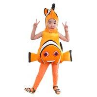 דגים נמו תלבושות לילדים Deluxe מוצאים את נמו מכנסיים בגד גוף פעוט תחפושת קמע בעלי החיים דגי ליצן מצחיק בייבי תלבושת חמודה