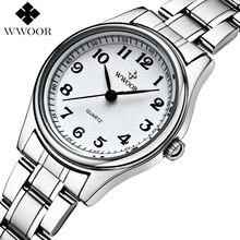 Montre Femme Brand Luxury Stainless Steel Quartz Watch Women Watches Ladies Casual Watch Top Clock Female WWOOR relogio feminino