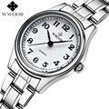 Montre femme marca de lujo de acero inoxidable reloj de cuarzo de las mujeres relojes señoras reloj reloj ocasional superior femenina wwoor relogio feminino