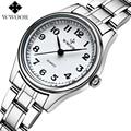 Montre femme marca de luxo em aço inoxidável relógio de quartzo das mulheres relógios senhoras relógio ocasional top wwoor relógio feminino relogio feminino