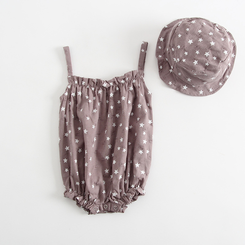 wholesale New baby Girls summer Romper+hat 2pcs infant girl fashion cotton comfortable rompers newborns body clotheswholesale New baby Girls summer Romper+hat 2pcs infant girl fashion cotton comfortable rompers newborns body clothes
