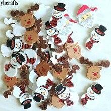 1 пакет/УП. Блестящий Санта Снеговик Олень пенопластовые наклейки рождественские поделки элементы деятельности Детская комната украшения декоративные рождественские diy игрушки