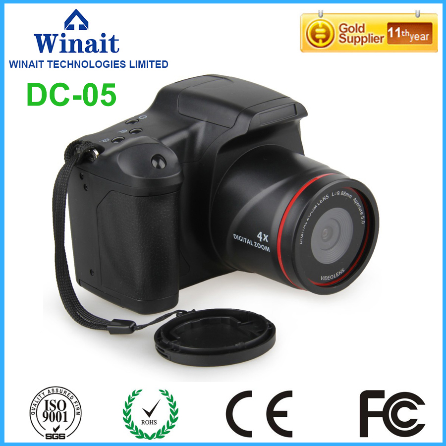 Freeshipping Warranty 1 Year 64GB 12MP Dslr Camera With 4x Digital Zoom Mini Camera HD 720P Built-in Microphone Video Camera 1 year warranty in stock 100