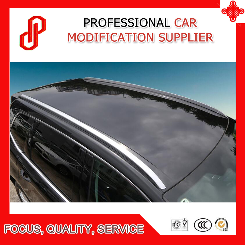 1 Pair Aluminium alloy sticker silver color install side rail bar roof rack for Edge 2015 2016 2017 2018 in Roof Racks Boxes from Automobiles Motorcycles