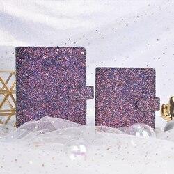 Lovedoki 2019 serie de lentejuelas cuaderno coreano lindo espiral planificador diario Personal libro carismático púrpura papelería escolar