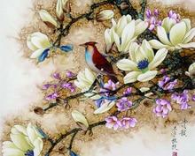Sin marco pared pintura por números pintura de la lona decoración pintura por número Bird pictures pintura por números regalo único