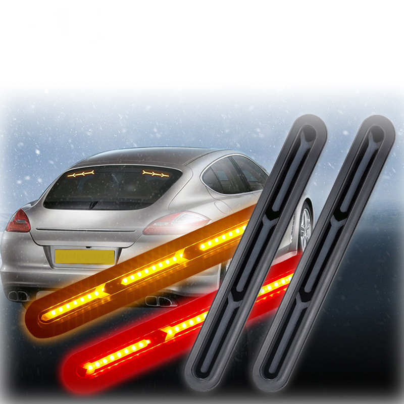 1 Pair Y Shape Waterproof Sequential Flowing Trailer Truck Brake Tail Light Stop Turn Signal Lamp Red Yellow Bi color 12V in Car Light Assembly from Automobiles Motorcycles