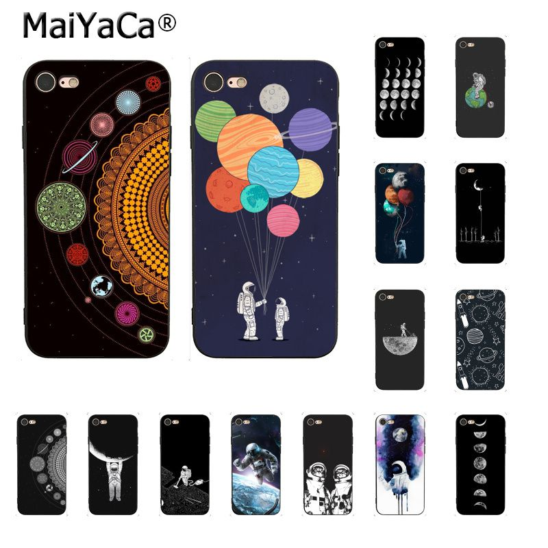 Maiyaca Funny Space Love Moon Astronaut Star Newly Arrived Phone Case For Iphone 5 5sx 6 7 7plus 8 8plus X Xs Max Xr Fundas Capa To Rank First Among Similar Products Phone Bags & Cases Cellphones & Telecommunications