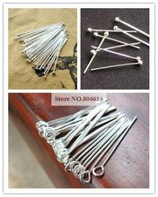 30MM Silver Plated Metal Eye Pins/Head Pins Jewelry Accessory Findings Fittings