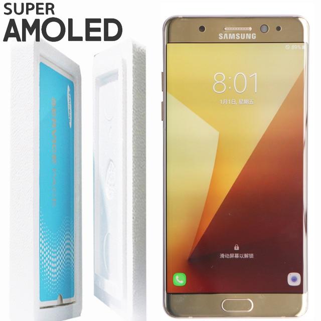 100% Nuevo LCD ORIGINAL de 5,7 pulgadas con marco para SAMSUNG GALAXY Note 7 Note FE 7 N930 N930F pantalla táctil digitalizador de montaje