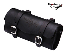 Propalm cycling bike bicycle saddle bag cow hide vintage leather seat rear bag pouch