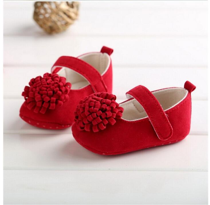 Lovely Cotton Fabric Baby Moccasins Girls soft sole shoes cute bowknot infant Toddle Kids princess shoes