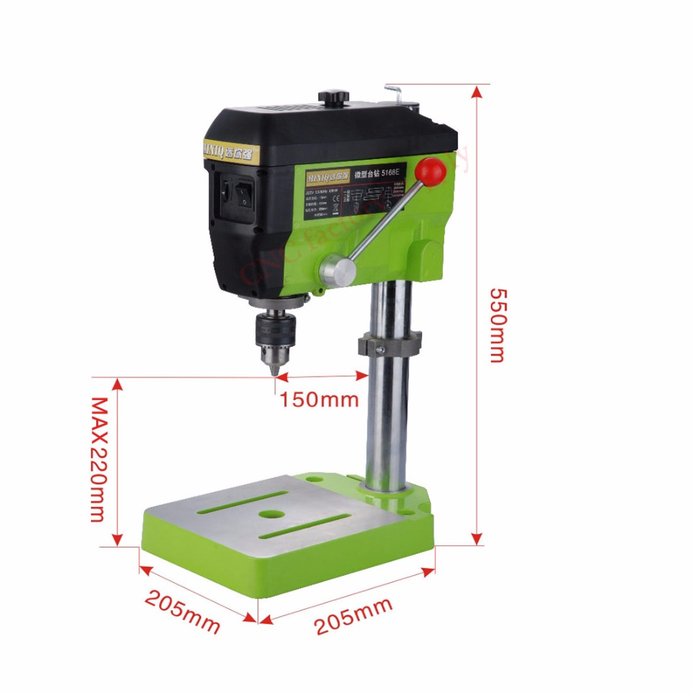 Hot Mini Electric Drilling Machine Variable Speed Micro Drill Press Grinder 1pc BG-5168E +1pc BG6330 +1pc 2.5 Parallel-jaw vice 710w bench drill variable speed drilling chuck 1 13mm drilling machine wood metal electric tools