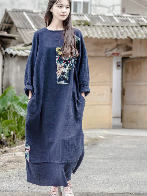 Robe pull longue et large