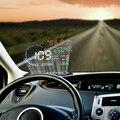 Cabeça carro HUD Up Display Sistema de Alarme de Carro A8 OBD2 Interface EUOBD Aviso de Excesso De Velocidade Automóvel Windshied Projeto Carro-styling