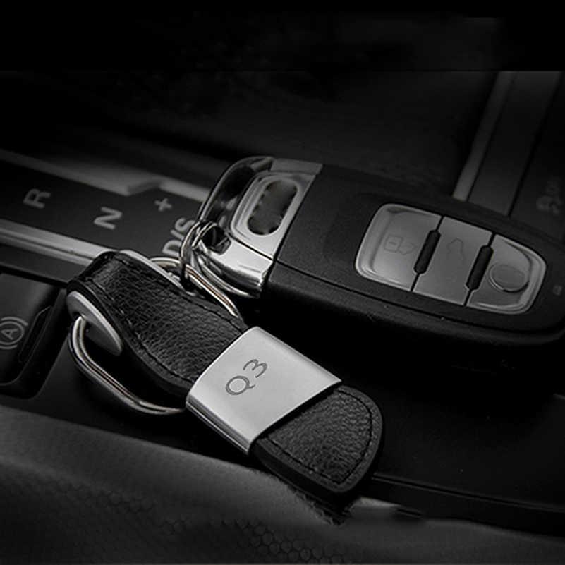 سيارة المفاتيح مفتاح ميدالية مفاتيح ذات حلقة لأودي A3 A4 B6 B8 B7 B5 B9 A6 C5 C6 C7 A5 Q5 Q7 8P 8V 8L TT 80 100 Q3 A7 S3 S4 S5 S6 S خط