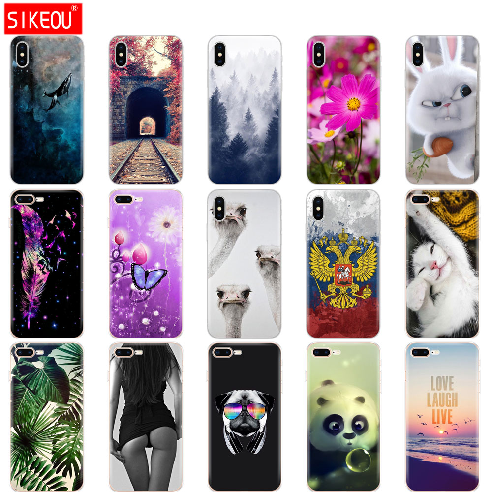 SILICONE Coque for iPhone 7 8 Plus X XR XS MAX 10 Case Cover FOR Capa iPhone 8 Case FOR iPhone 7 FUNDA  FOR iphone XS MAX