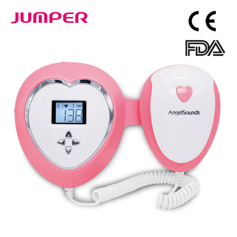 Angelsounds Pocket Fetal Doppler Ultrasound Prenatal Baby Heart Beat Monitor No Radiation LCD Screen FHR Fetal
