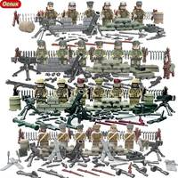2017 New WW2 Mini Military Toy US German Soviet Janpan Army Soldiers Figure Building Block Military