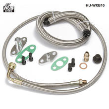 Turbo carregador de óleo retorno dreno + linha de alimentação t3 t4 t60 t61 t70 kit completo HU-WXB10