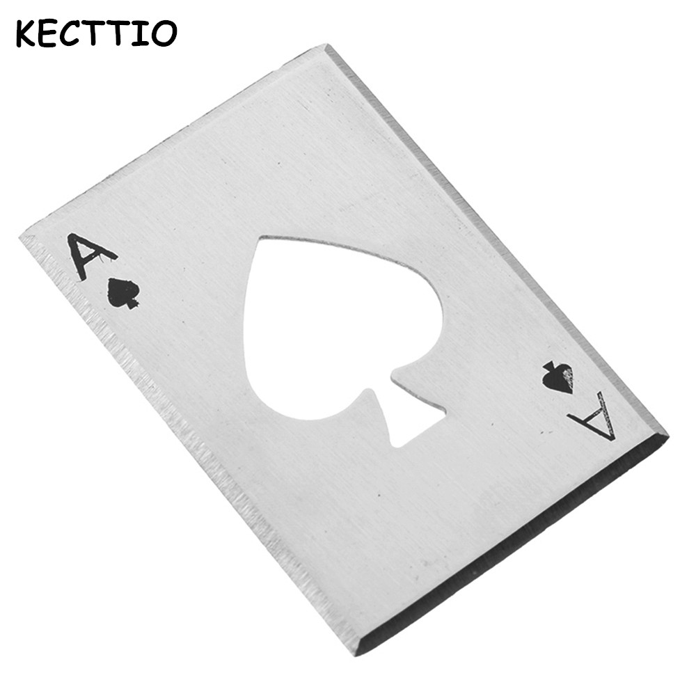 Creative Poker Shaped Bottle Can Opener Stainless Steel Credit Card Size Casino Bottle Opener Abrelatas Abrebotellas