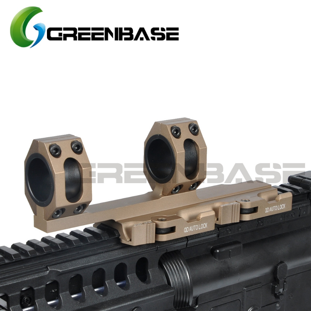 Greenbase AR15 Tactical Rifle Scope Mount QD Quick Detach Cantilever Scope Mount Extended 25.4mm 30mm Scope Ring Auto Lock element larue tactical spr m4 scope mount qd