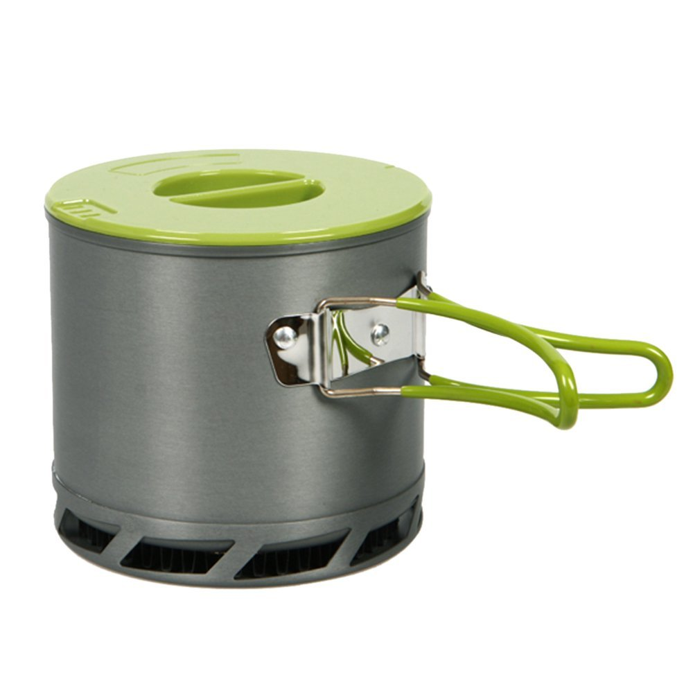 1.2 L Camping kitchen utensils Outdoor pot portable heat exchanger collect anodized aluminum for 1-2 persons