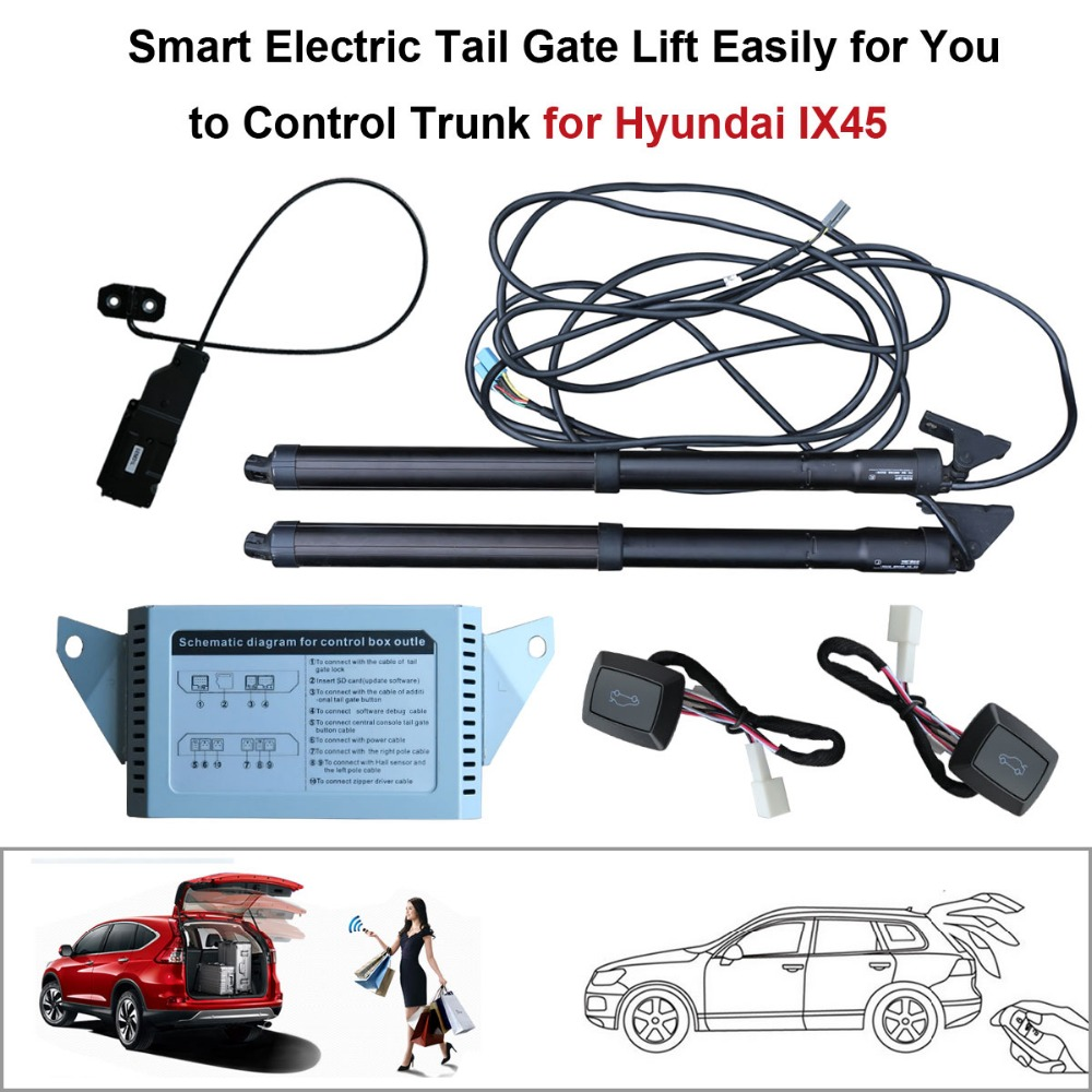 smart auto electric tail gate lift for hyundai ix45 control set height avoid pinch with latch [ 1000 x 1000 Pixel ]