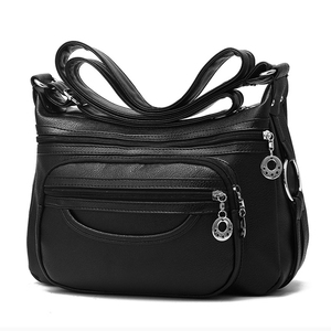 Image 2 - สุภาพสตรีHobos Crossbodyกระเป๋าผู้หญิงMessengerกระเป๋านุ่มล้างPUหนังกระเป๋าสะพายกระเป๋าหญิงกระเป๋าซิปตกแต่ง