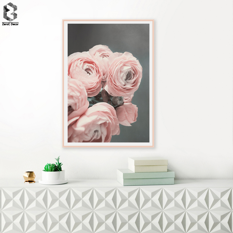 ROMANTIC FLORAL Canvas Painting Flowers Wall Art Posters and Prints Texture Picture for Living Room Decoration Home Decor