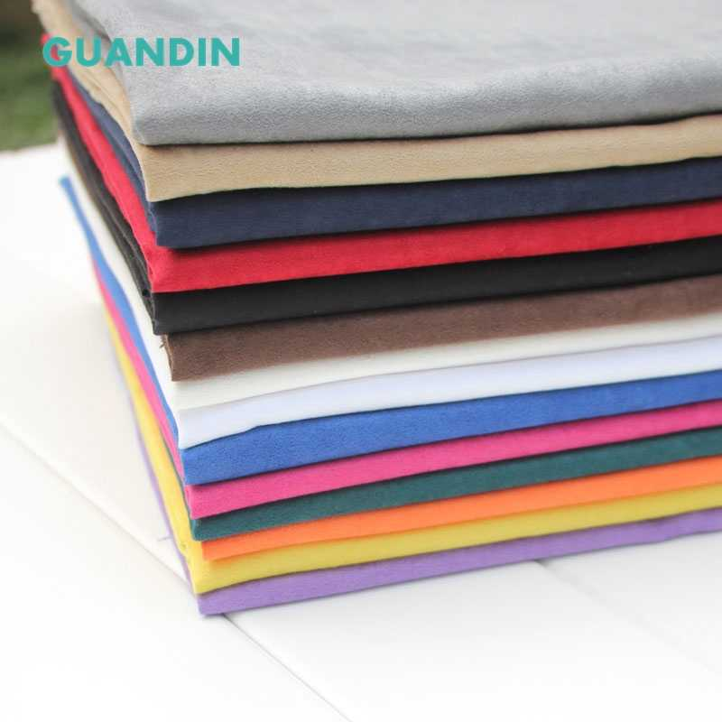 GUANDIN,Colorful Faux Suede Fabric Wholesale Black Fake Suede Texitle For Clothing Garment Soft Material Bags Shoes