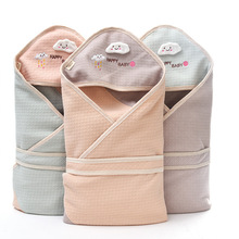 2019 Baby Blanket Cotton Infant Muslin Bamboo Breathable Envelop Swaddle For Newborn Baby Hooded Sleepsack Parisarc Blankets недорого