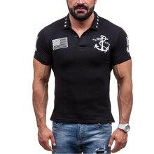2017 Flag Print Tshirt Men Outwear Casual Tees Tops Short Sleeve T-shirts Tees Summer Camisetas Black White Brand Clothing