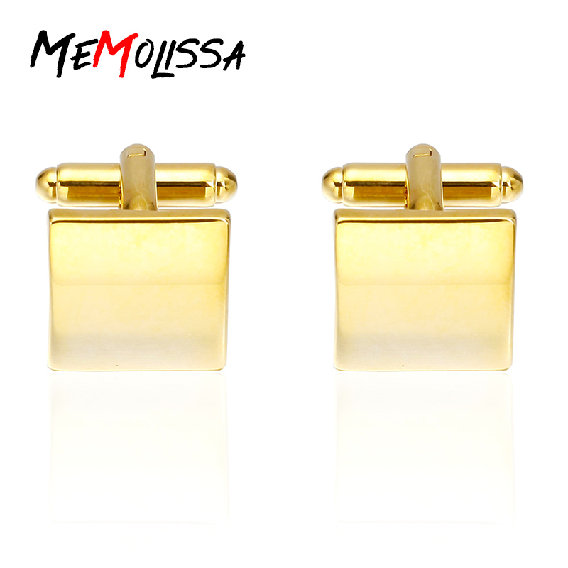 Memolissa Luxury Shirt Cufflinks For Mens Brand Cuff Button White Opals Silver Color Cuff Links High Quality Abotoaduras Jewelry Jewelry & Accessories Tie Clips & Cufflinks