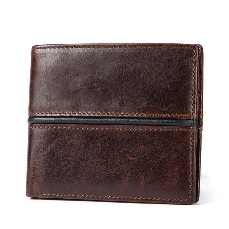 Fashion Genuine Leather Luxury Brand Cowhide Men Wallets