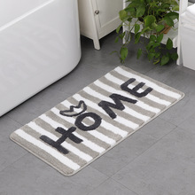 Home Bath Printed Mats Bathroom Rug Absorbent Non-slip Shower 50X80CM Kitchen Door Floor Mat Carpet For Toilet