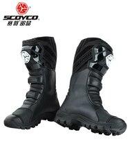 SCOYCO bottes de randonnée pour moto, pour rue, pour course automobile, pour Motocross, taille EUR42, US, 8.5, MBT012