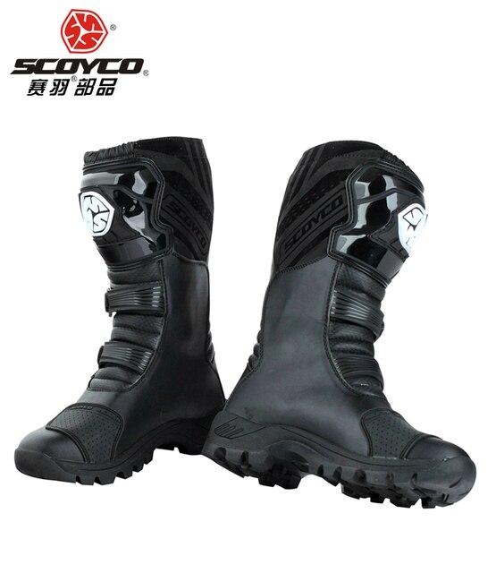 SCOYCO motor naik Sepatu jalan sepatu mobil sepatu balap jalan Motocross  kuda MBT012 hanya EU ukuran e0fa5c504b