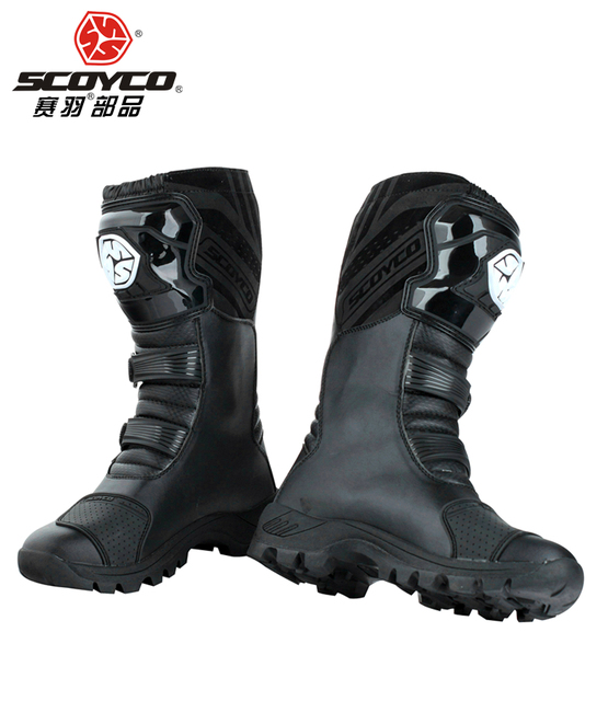SCOYCO motorcycle riding Boots street automobile racing boots road Motocross riding shoes MBT012 size EUR42 US 8.5