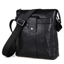 Men Crossbody Bags Cow Leather Black Vintage Business Casual Man Brand Shoulder Designer Bag Ipad Mobile Male Travel Bag цена в Москве и Питере