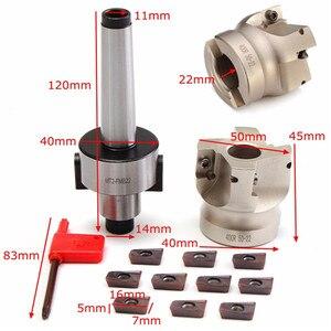 Image 5 - Novo cortador de moinho mt2 m10 & 50mm face end + 10 peças carboneto inserção apmt1604 cnc moinho fresa inserção kit máquina ferramentas