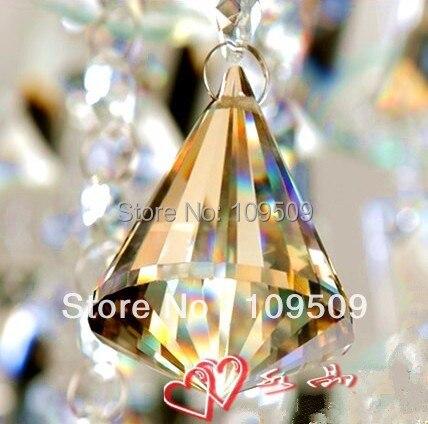 5pcs/lot 40mm Cognac Color Chandelier Crystal Prism Big Top Faceted Crystal Prism Crystal ball prism Pendant SunCatcher