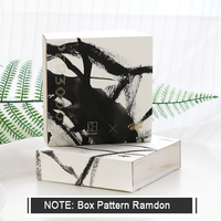 Kinbor 300Sheets Box Ink Painting Wooden Box Creative DIY Blank Page Memo Pad Portable Travel Notepad