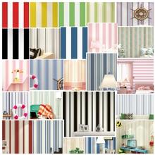 Modern minimalist black white vertical stripes wallpapers Mediterranean blue wallpaper yellow green red pink girl kids bedroom