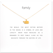 Sparkling Family Whale Necklace Gold Dipped Pendant Necklace Clavicle Chain Statement Necklace Women Jewelry T0297