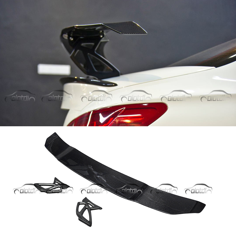 Pour Vorsteiner Style Fiber De Carbone GT Spoiler Arrière Tronc Aile pour Mercedes Benz C63 CLA45 Berline pour BMW F80 F82 f87 M2 M3 M4